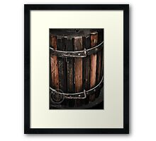 Wine Barell Framed Print
