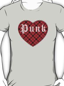 Red Tartan Punk Heart T-Shirt
