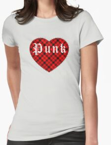 Red Tartan Punk Heart T-Shirt