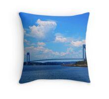 The Verrazano Narrows Bridge Throw Pillow