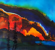 Version of Stephen Quiller Mountains by Annie Wise