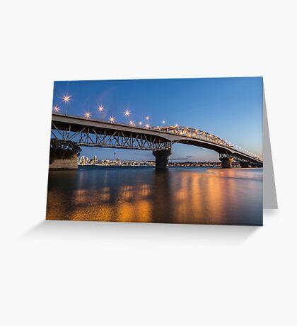 auckland harbour bridge at night Greeting Card