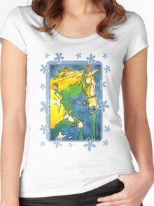 My Little Pony (Yellow and Blue) Women's Fitted Scoop T-Shirt