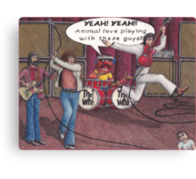 Animal Joins The Who Canvas Print