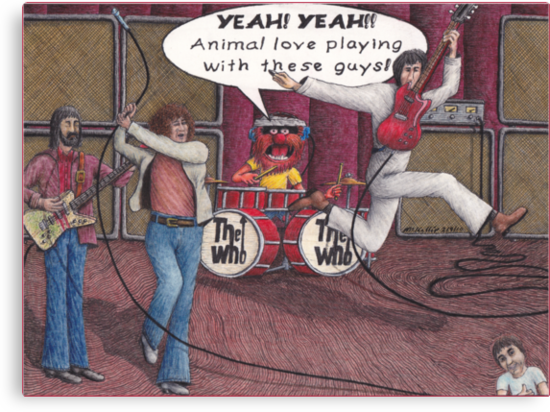 Animal Joins The Who by Michael McKellip