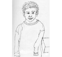 Boy in big sweater Photographic Print