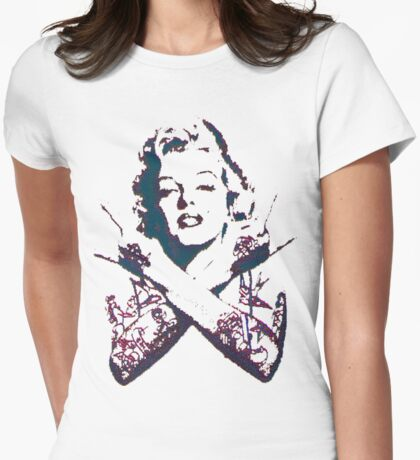 Punk Marilyn Womens Fitted T-Shirt