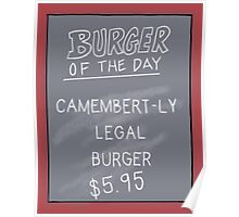 Specials Board - Camembert-ly Legal Poster