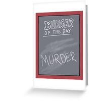 Specials Board - Murder Mystery Dinner Theater Greeting Card