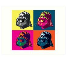 Darth Kitty Pop Art Print