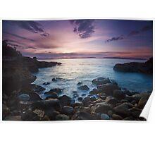 Boronia Beach Rocks Sunrise Poster