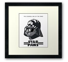 Darth Kitty - Classic grey Framed Print