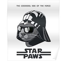 Darth Kitty - Classic grey Poster