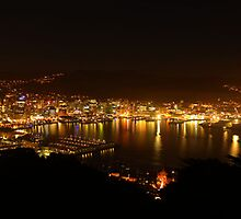 Night Lights in Wellington by Laurel Carmichael