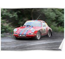 Porsche 911 Historic Rally Car Poster