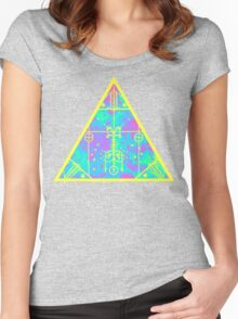 cool electric triangular space Women's Fitted Scoop T-Shirt