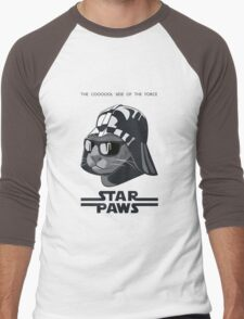 Darth Kitty - Classic grey Men's Baseball ¾ T-Shirt
