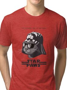 Darth Kitty - Classic grey Tri-blend T-Shirt