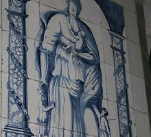 Wall decoration Blue Delft by patjila