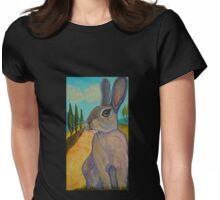 Tuscan Rabbit Womens Fitted T-Shirt