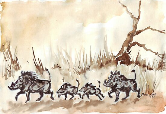An African scene by Maree  Clarkson