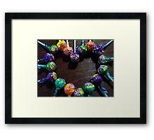 LOVEly pops Framed Print