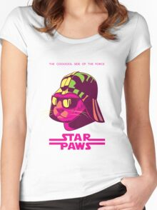 Darth Kitty - Neon Women's Fitted Scoop T-Shirt
