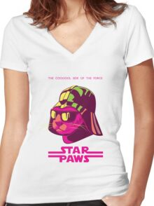 Darth Kitty - Neon Women's Fitted V-Neck T-Shirt