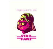 Darth Kitty - Neon Art Print