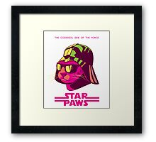 Darth Kitty - Neon Framed Print