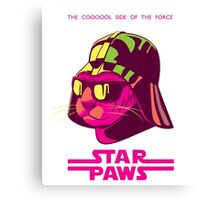 Darth Kitty - Neon Canvas Print