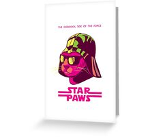 Darth Kitty - Neon Greeting Card