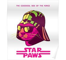 Darth Kitty - Neon Poster