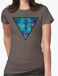 inverted space triangle Womens Fitted T-Shirt