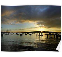 Sunset Watsons Bay, NSW, Australia Poster