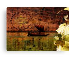 Waiting on Dry Land Canvas Print