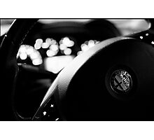 Alfa Steering Wheel Photographic Print