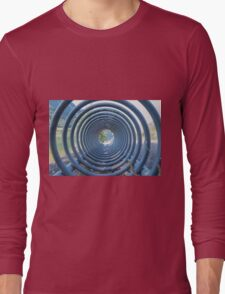abstract landscape lake trought a rack Long Sleeve T-Shirt