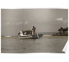 Noosa River on a lazy Sunday afternoon Poster