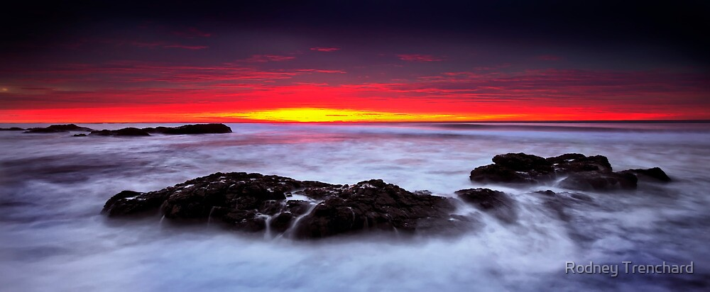 Red Sunrise by Rodney Trenchard
