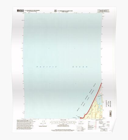 USGS Topo Map Oregon Floras Lake 279900 1996 24000 Poster