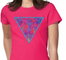inverted warm neon triangle Womens Fitted T-Shirt
