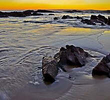 Last Light of the Day at Anna Bay by bazcelt