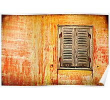 Window and amazing wall Poster