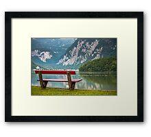 Hallstatt in Austria-003 Framed Print