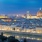 Florence Panorama by night  by nickthegreek82