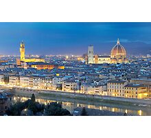 Florence Panorama by night  Photographic Print