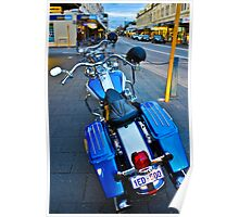 Harleys in Freo Poster