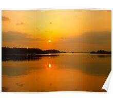 Sun set in Ireland Poster