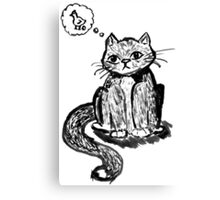 Ink Cat Canvas Print